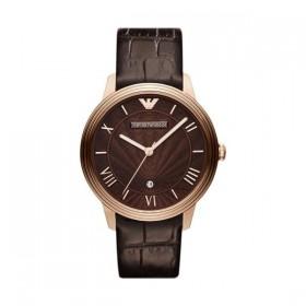 Emporio Armani reloj de caballero en piel marrón.
