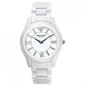 Emporio Armani reloj de caballero Slim en cerámica blanca