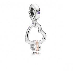 "Pandora Rose charm colgante de pulsera ""Reflejos de Amor"""