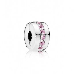 "Pandora clip de pulsera ""Sendero Luminoso Rosa"""