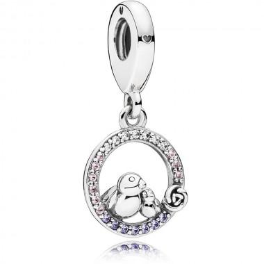 """Pandora charm colgante """"Mama pájaro y polluelo"""""""