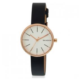 Skagen Signature reloj de mujer en piel azul.