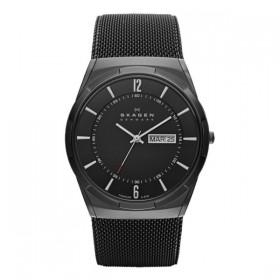 Skagen Melbye reloj de caballero en acero negro.