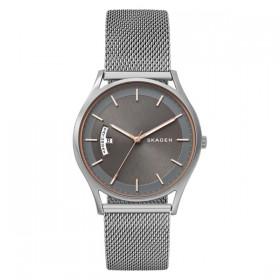 Skagen Holst reloj de caballero en acero con dial gris.