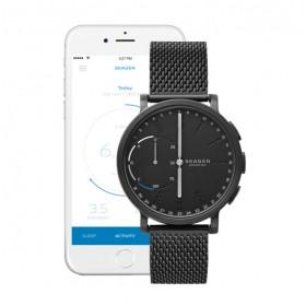 Skagen Hagen Connected Hybrid reloj de caballero en acero negro.