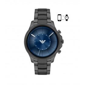 Emporio Armani Connected Touchscreen Smartwatch de caballero en acero.