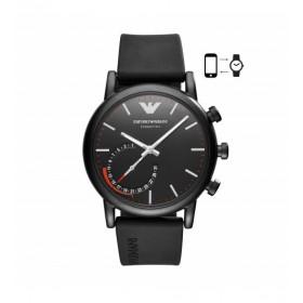 Emporio Armani Connected Hybrid reloj de caballero en caucho.