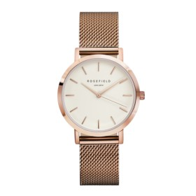 Rosefield reloj de mujer Colección THE TRIBECA en acero rosa.