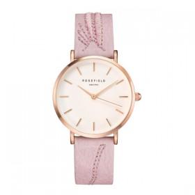 Rosefield reloj de mujer Colección City Bloomen piel rosa palo.