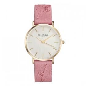 Rosefield reloj de mujer Colección City Bloomen piel rosa.