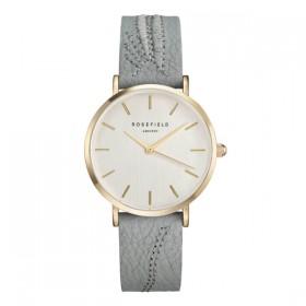Rosefield reloj de mujer Colección City Bloomen piel verde.