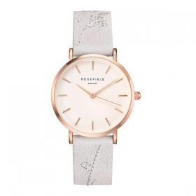 Rosefield reloj de mujer Colección City Bloomen piel gris.
