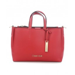 Calvin Klein bolso rojo de mujer Modelo Step Up Medium Tote