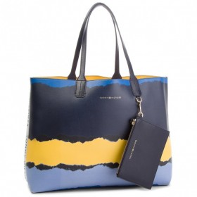 Tommy Hilfiger Tote print bolso reversible