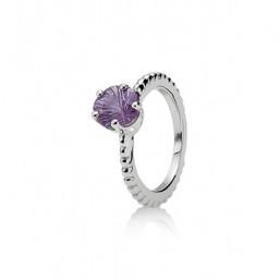Pandora Amatista anillo.