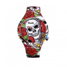 Doodle Comic Skull reloj unisex