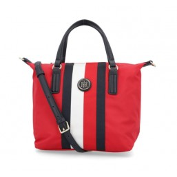Tommy Hilfiger Poppy SM Tote Compacto a rayas.