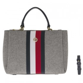 Tommy Hilfiger Effortless Melton bolso gris.