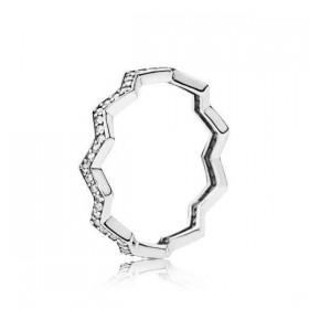 "Pandora ""ZigZag Brillante"" anillo"