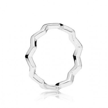 """Pandora """"Zigzag Eterno"""" anillo en plata"""