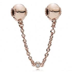 Pandora Rose cadena de seguridad de corazones