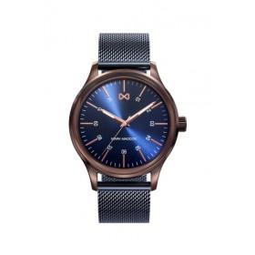 Mark Maddox Village reloj de caballero en acero azul