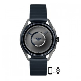 Emporio Armani Connected Smartwatch en caucho azul.