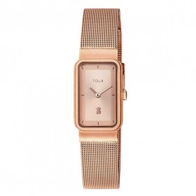 Tous Squared Mesh reloj de mujer en acero rosa