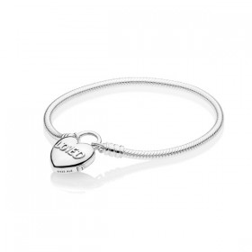 Pandora Moments Corazón Amado pulsera en plata