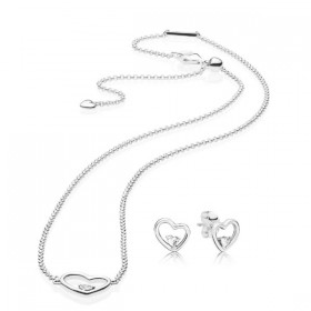 Pandora Set de regalo Corazones de Amor Asimétrico