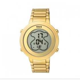 Tous Digibear reloj digital en acero dorado