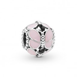 Pandora Mariposas Rosas charm en plata