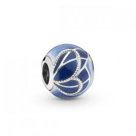"Pandora ""Alas de Mariposa Azules"" charm para pulsera"
