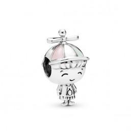 """Pandora """"Niño"""" charm de plata"""