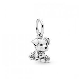 """Pandora """"Labrador"""" charm colgante plata"""