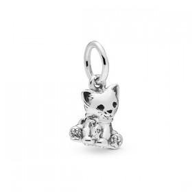 """Pandora """"Gato"""" charm colgante en plata"""