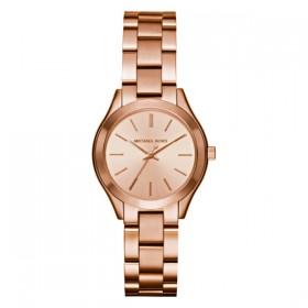 Michael Kors Mini Slim Runway reloj en acero rosa