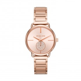 Michael Kors Portia reloj en acero rosa