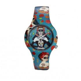Doodle Gran Dama reloj de silicona