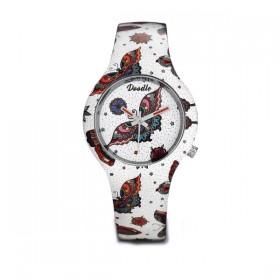Doodle Butterfly reloj de mujer en silicona