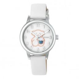 Tous New Muffin reloj de niña en piel blanca
