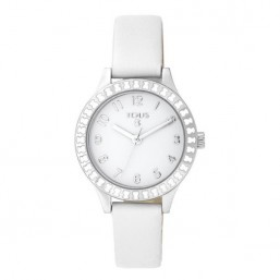 Tous Straight reloj de niña en piel blanca