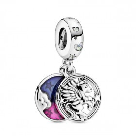 Pandora charm colgante Unicornio Mágico en plata