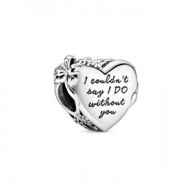Pandora charm Corazón Dama de Honor en plata