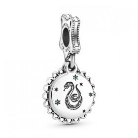 Pandora charm colgante Slytherin en plata