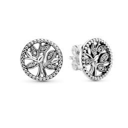 Pandora pendientes Árbol de la Vida en plata