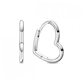 Pandora pendientes Corazón Asimétricos en plata