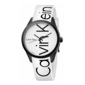 Calvin Klein reloj caucho blanco