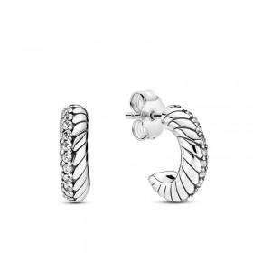 Pandora pendientes de aro Cadena de Serpiente en plata