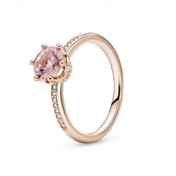 Pandora Rose anillo Corona Brillante Rosa